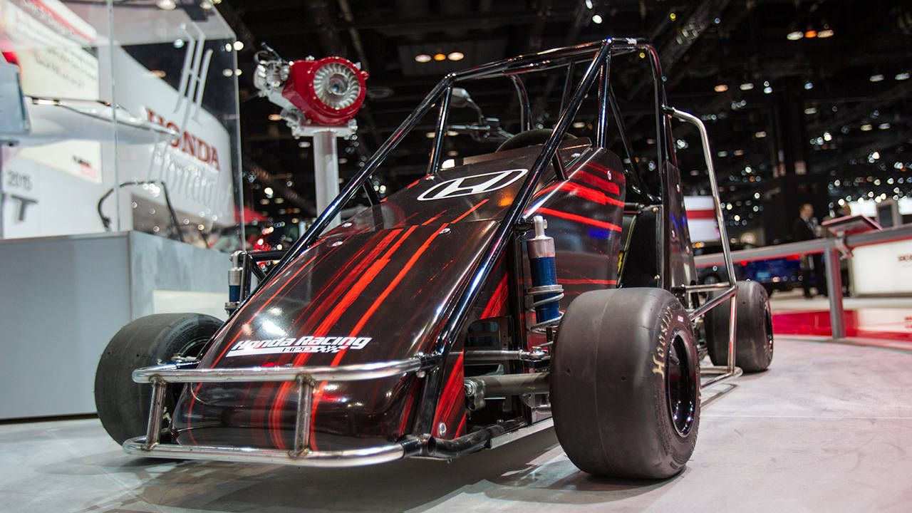 This Honda Quarter Midget is the coolest thing on their stand