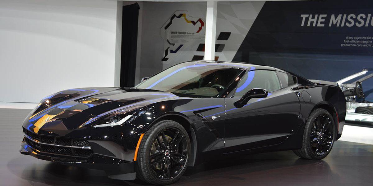2014 Black Widow Chevrolet Corvette at the Chicago Auto ...