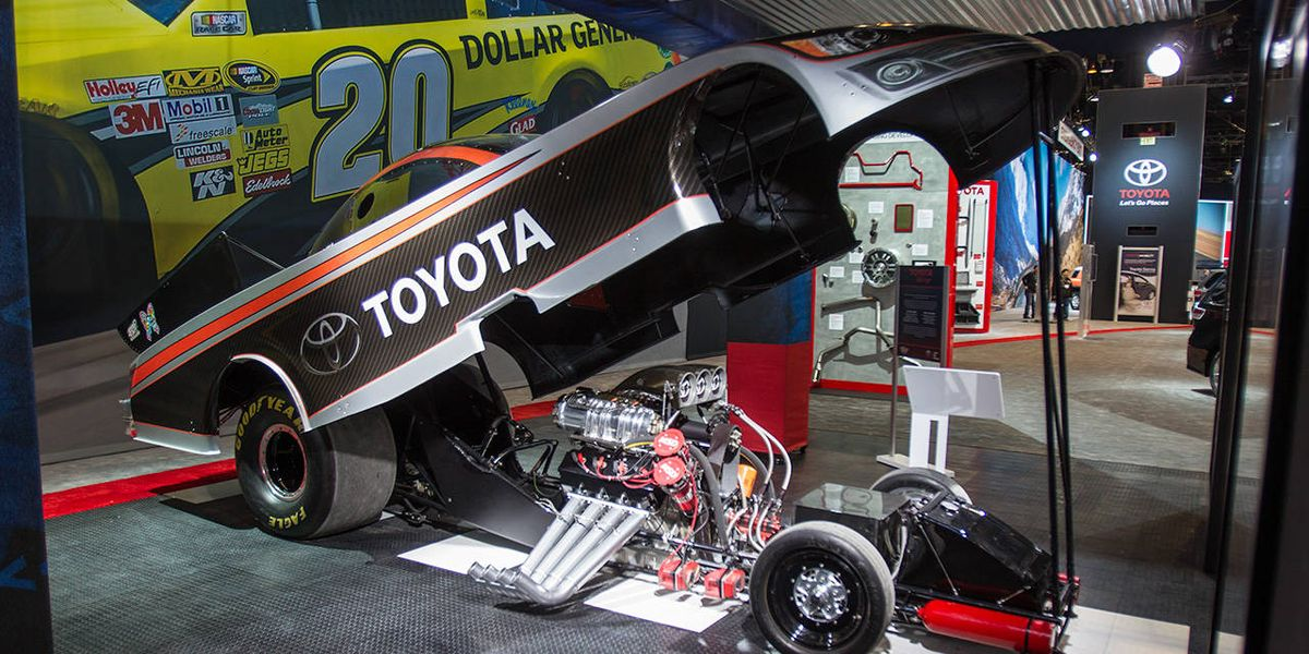 Toyota Camry Funny Car Has 8000 HP - Racing