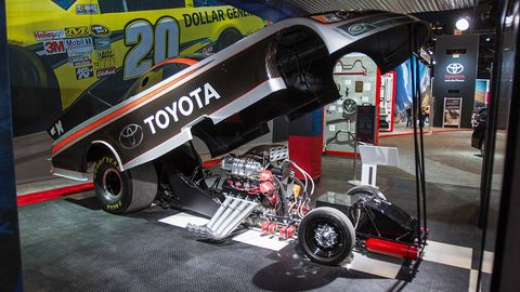 toyota camry funny car has 8000 hp racing