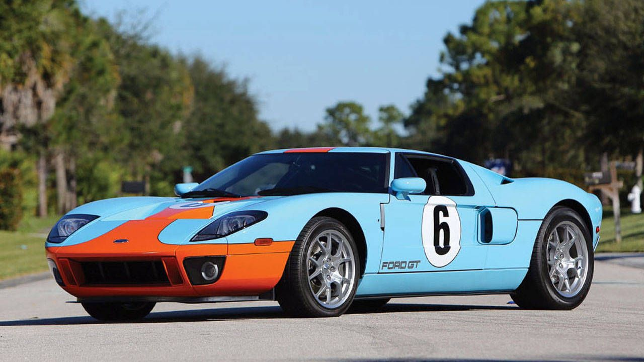 With Its Mid Engine Powerplant And Era Bending Styling The Ford Gt Was A Fitting Reincarnation Of Fords Ferrari Fighting Race Car From The S