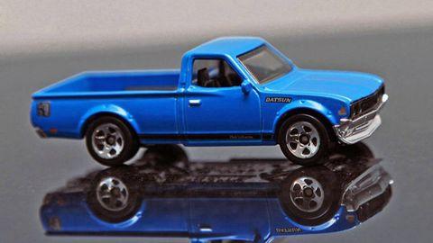 Motor vehicle, Wheel, Blue, Vehicle, Truck, Automotive design, Pickup truck, Toy, Rim, Electric blue,