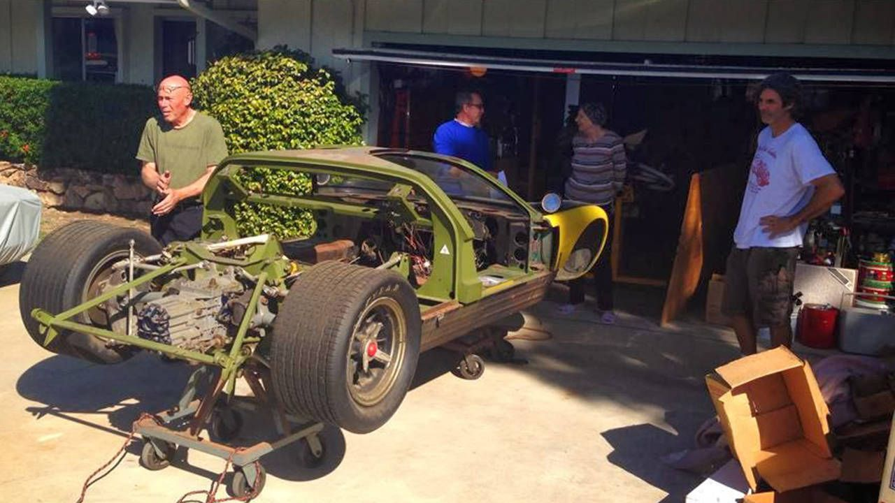 priceless ford gt40 found buried in junk filled garage