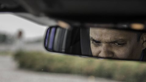 Automotive mirror, Glass, Rear-view mirror, Automotive side-view mirror, Tints and shades, Mirror, Automotive window part, Windshield, Wrinkle, Vehicle door,