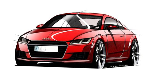 Automotive design, Automotive mirror, Vehicle, Automotive lighting, Red, Car, Hood, Grille, Fender, Luxury vehicle,