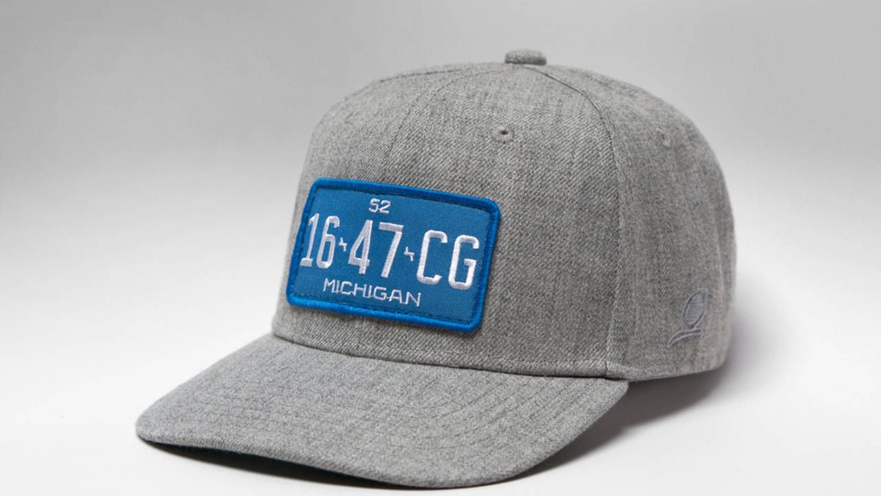 These vintage-style license plate hats are incredibly cool