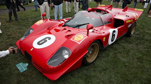 Vehicle, Automotive design, Car, Red, Race car, Sports car, Carmine, Racing, Auto part, Sports prototype,