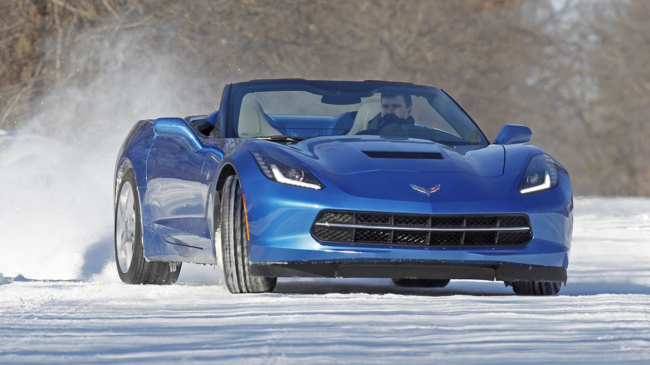 View Photos Of Our Winter Testing Of The 2014 Chevrolet Corvette Stingray  Convertible.