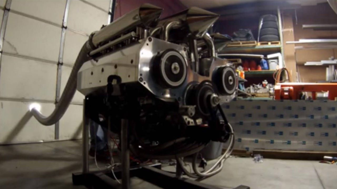Guy builds insane 12-rotor Wankel engine in his garage