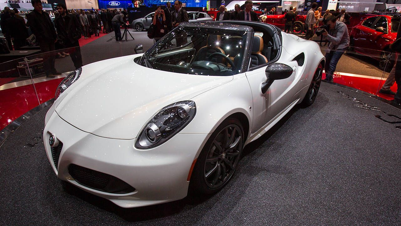 View Photos Of The All New 2015 Alfa Romeo 4C Convertible From The Floor Of  The 2014 Geneva Motor Show.