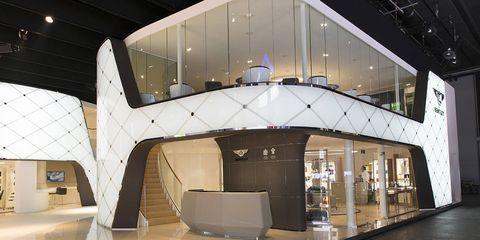 Architecture, Interior design, Floor, Space, Commercial building, Design, Interior design, Hall, Transparent material, Lobby,
