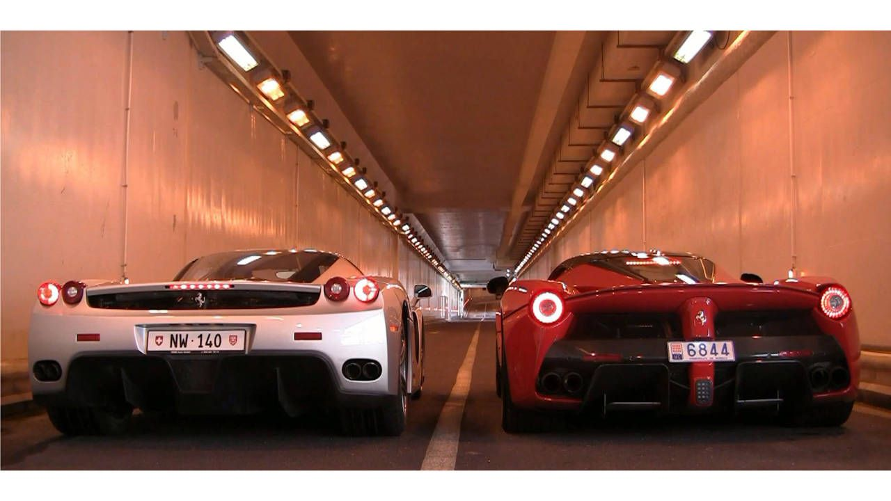 Listen to a LaFerrari and Enzo wail in a tunnel