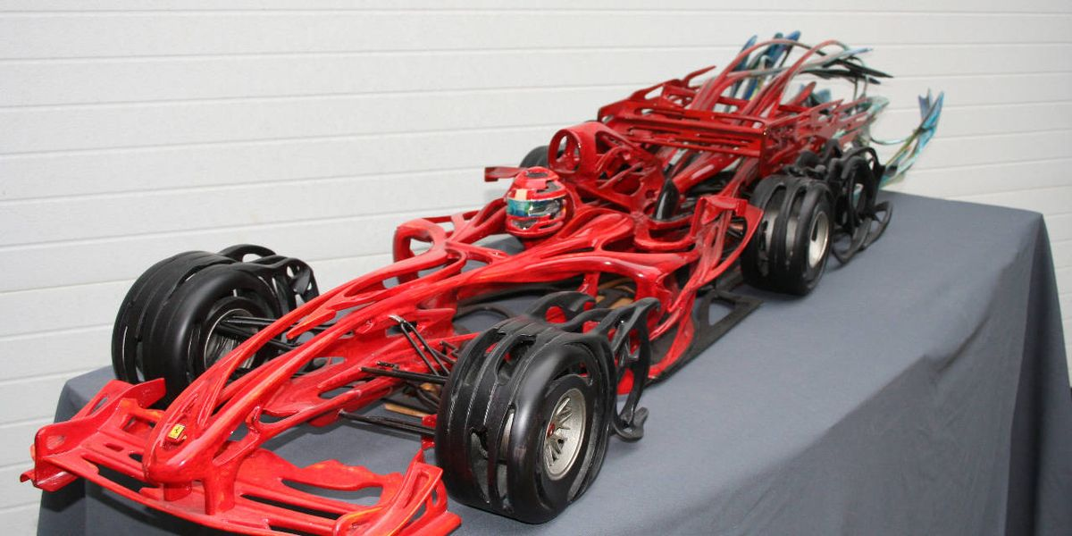 Incredible Wooden Sculptures Of Race Cars