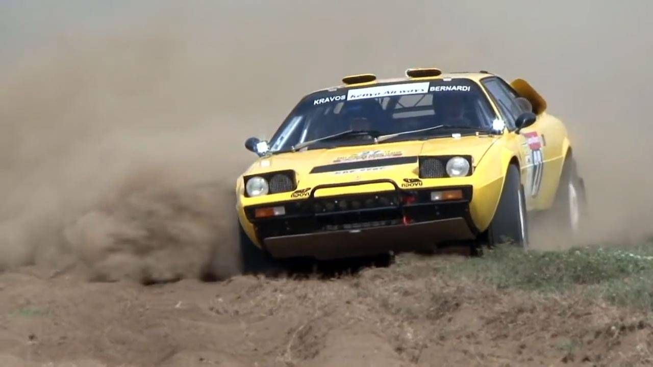 Watch a Ferrari 308 GT4 charge through an extreme African rally