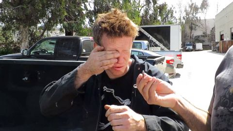 Finger, Hand, Wrist, Thumb, Vehicle door, Camera, Nail, Automotive window part, Windshield, Bracelet,