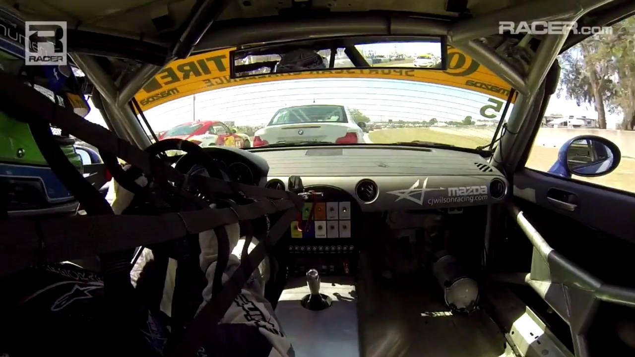 This Miata passed 15 cars in one lap at Sebring