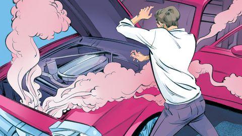 Cartoon, Vehicle door, Animated cartoon, Fictional character, Illustration, Anime, Fiction, Comics, Animation, Car,