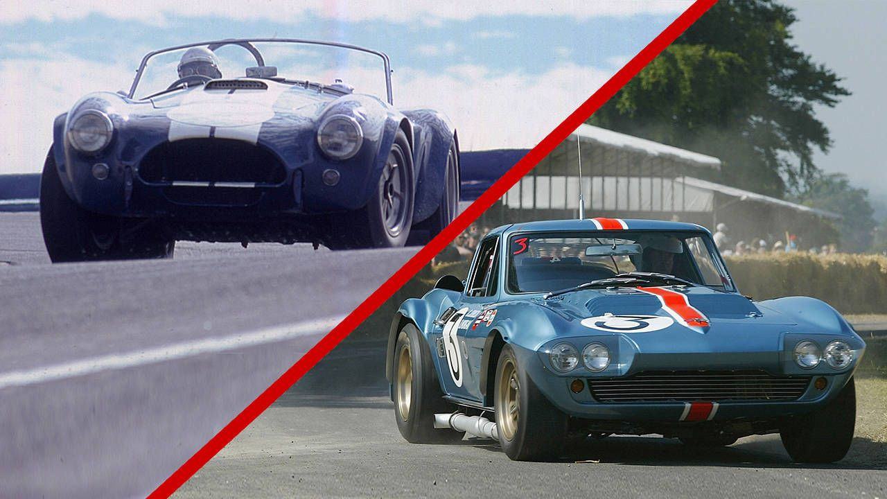 1963 Chevrolet Corvette Vs  Shelby Cobra - Racing
