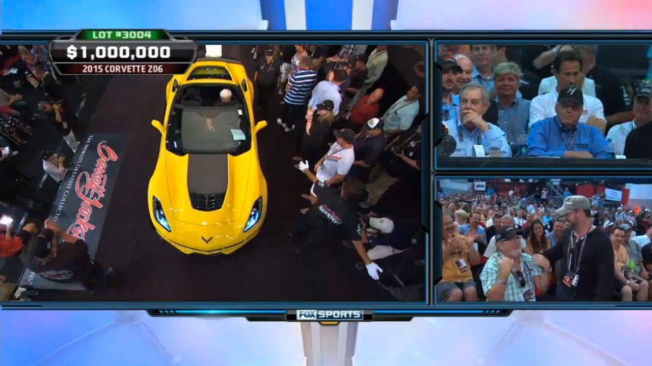 First 2015 Corvette Z06 sells for $1,000,000