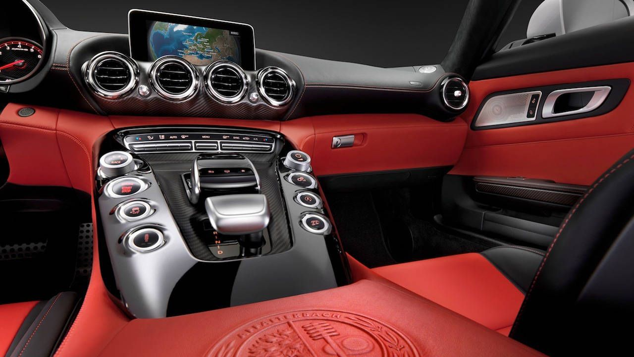 Take a look at the immaculate interior of the Mercedes Benz AMG GT