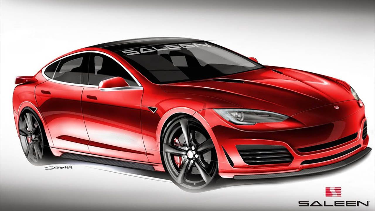 This is Saleen's Tesla Model S, due out this summer