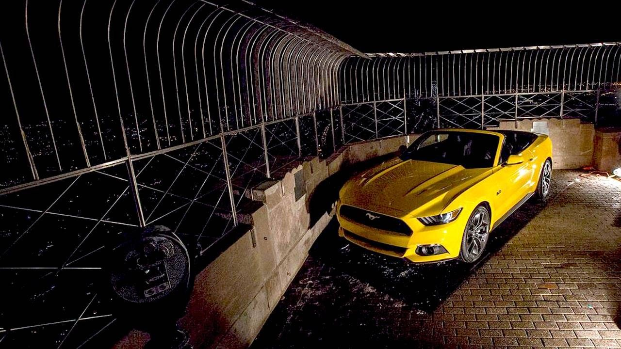 We watched Ford build a 2015 Mustang on the Empire State Building