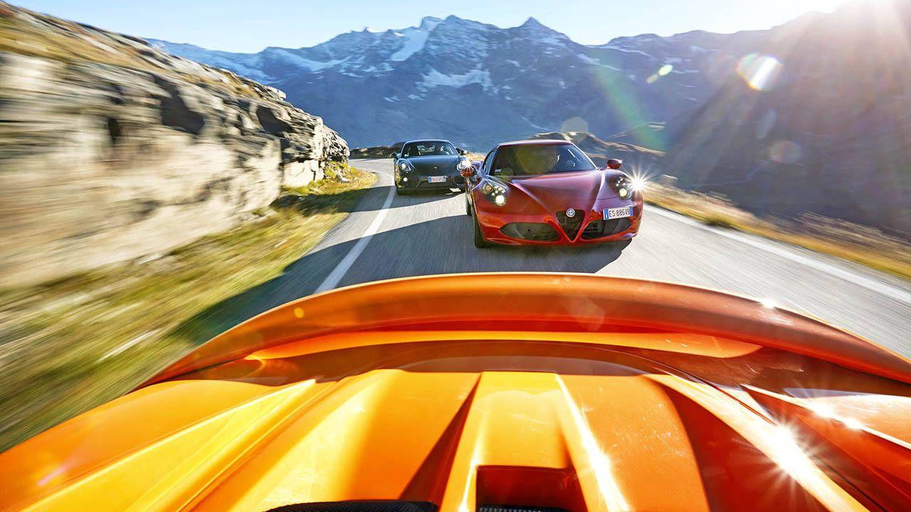 Alfa Romeo 4C vs. Porsche Cayman and Lotus Elise
