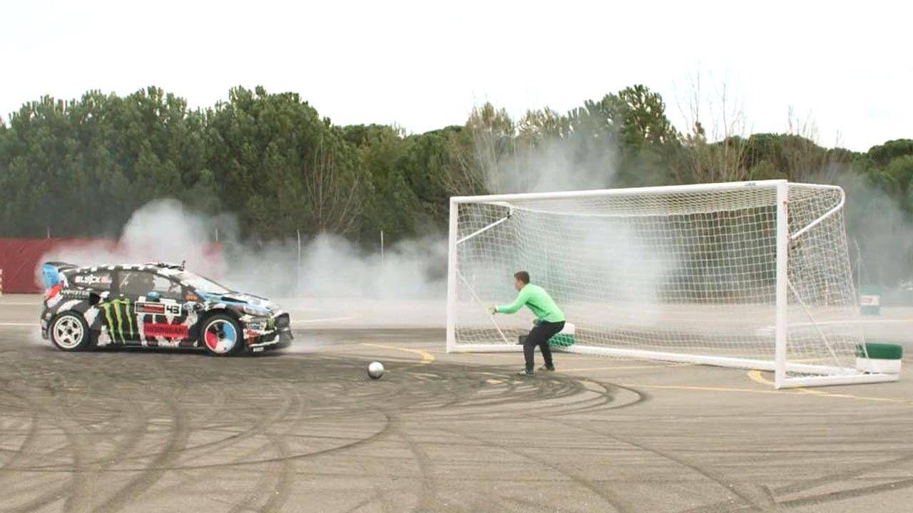 Footkhana is Ken Block playing soccer with his 600-hp Fiesta
