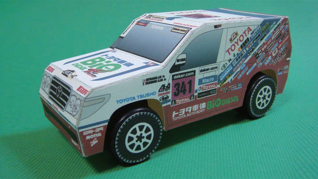 Papercraft Land Cruisers put Dakar on your desk