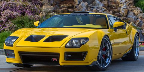 Automotive design, Yellow, Vehicle, Hood, Car, Performance car, Sports car, Fender, Grille, Rim,