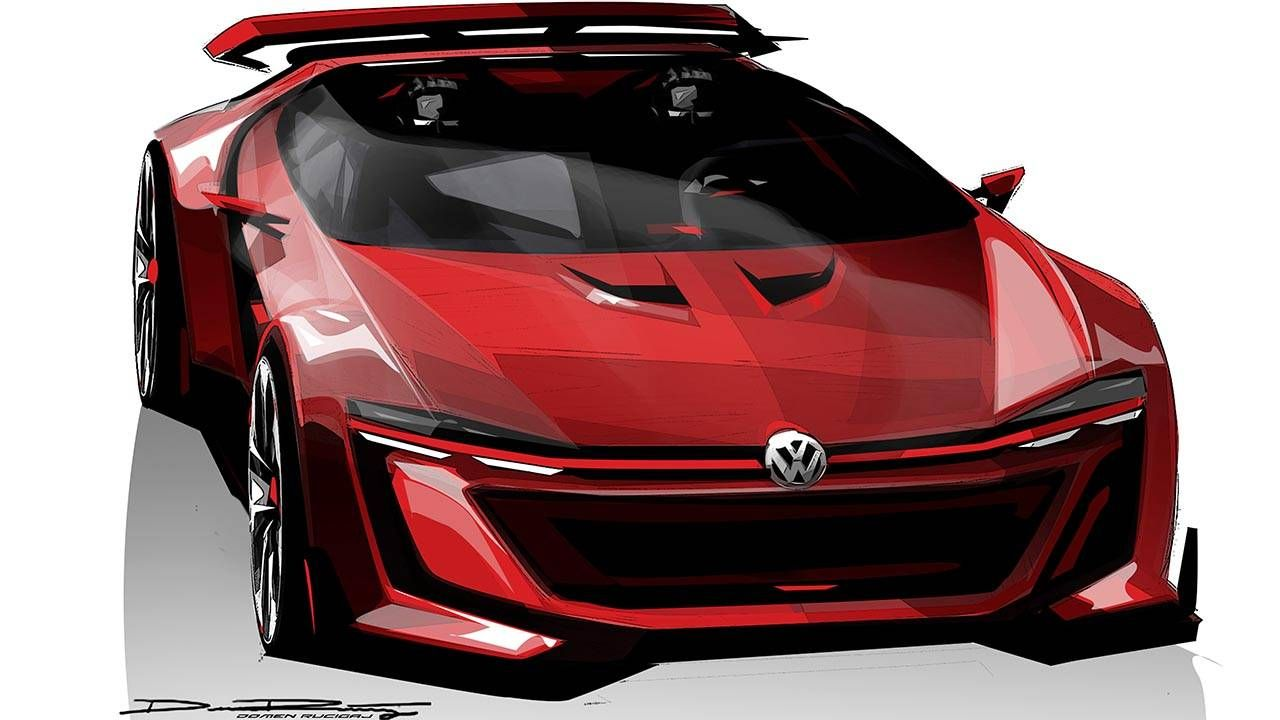 This is the Volkswagen GTI Roadster Vision Gran Turismo