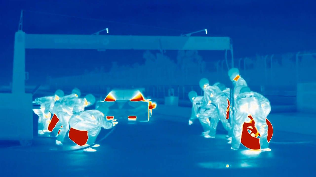 Thermal imaging makes pit stops look spectacular