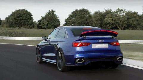 The Audi A3 Clubsport Quattro Has A Hypnotizing Led Air Brake
