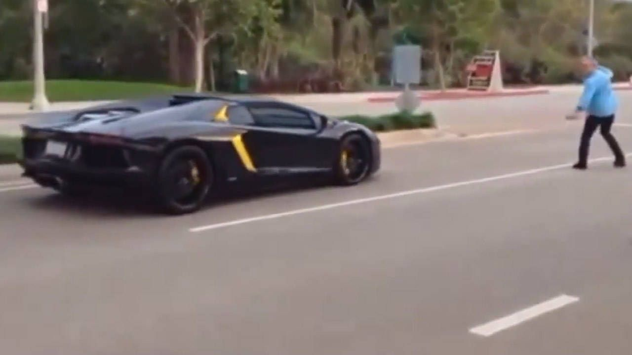 Everyone in the Lamborghini rock-throw video is a jackass