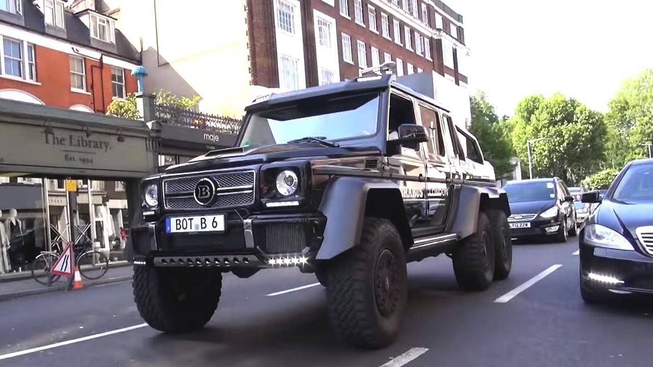 no big deal, just a brabus g wagen 6x6 driving around londonan enterprising bicyclist in downtown london spotted one of mercedes benz\u0027s brabus fortified kaijus, the legendary g63 amg 6x6 at one point, the 6x6 ducks