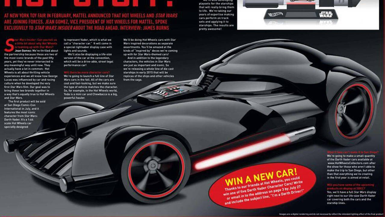 Hot Wheels To Unveil Darth Vader Car At San Diego Comic-Con - Full ...