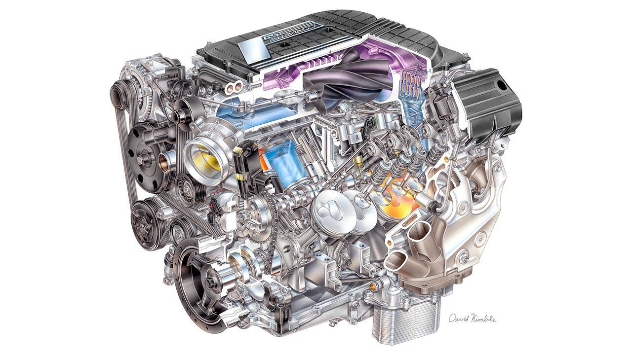 Peer inside the Corvette Z06's monster 650-hp V8