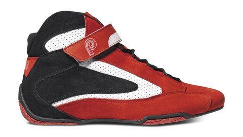 Footwear, Product, Shoe, Textile, Red, White, Logo, Carmine, Orange, Maroon,
