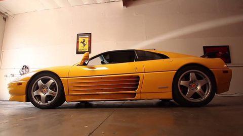 Tire, Wheel, Automotive design, Vehicle, Yellow, Land vehicle, Rim, Transport, Automotive parking light, Automotive wheel system,