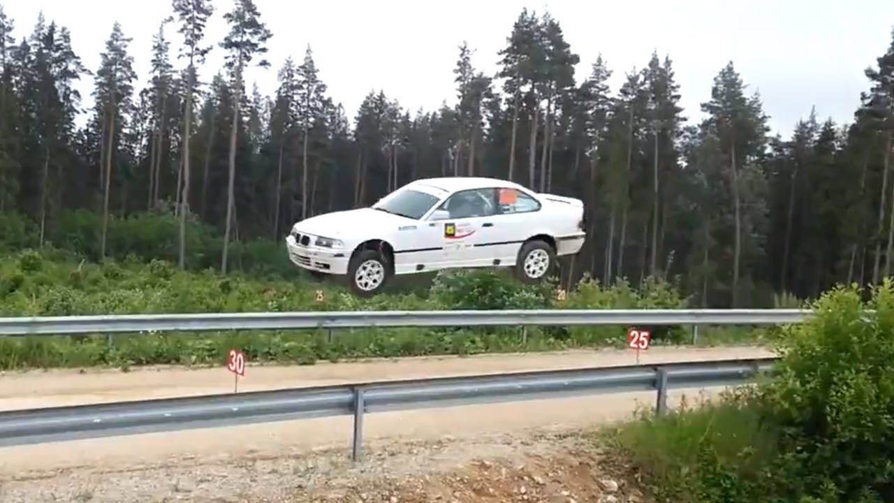 BMW M3 rally car gets epic air, gives zero f**ks