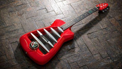 Musical instrument, Musical instrument accessory, String instrument, String instrument, Plucked string instruments, Red, Guitar, String instrument accessory, Carmine, Folk instrument,