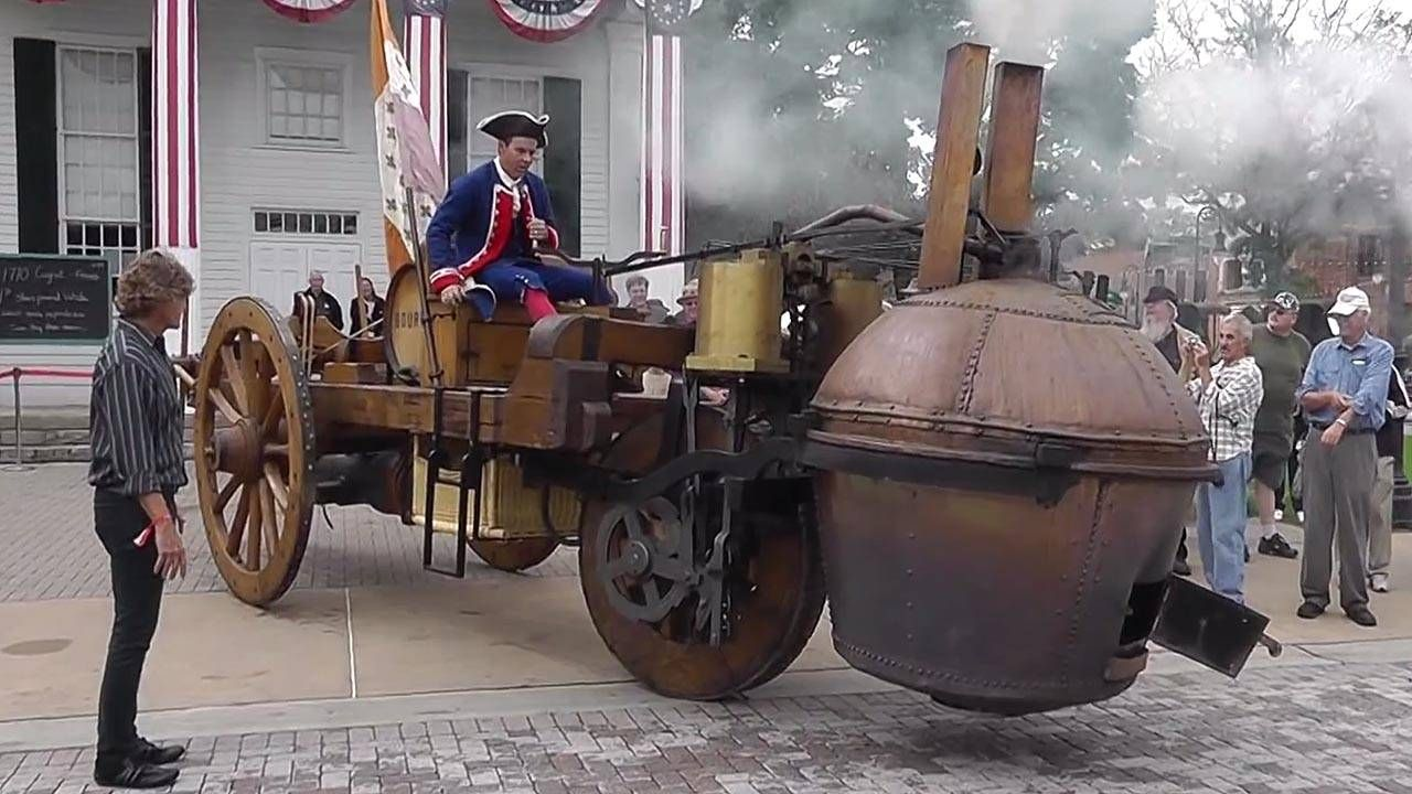 The first self-propelled vehicle was ungainly beyond belief