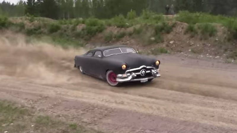 Watch a shoebox Ford re-enact the Doc Hudson scene from Cars