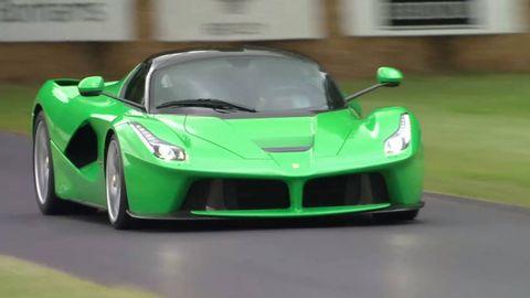 Mode of transport, Automotive design, Green, Automotive exterior, Vehicle, Hood, Yellow, Land vehicle, Transport, Headlamp,