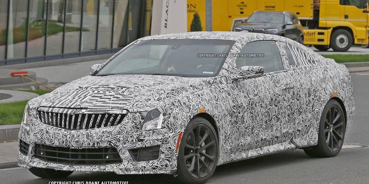 2016 Cadillac ATS-V Coupe drops body cladding for 'Ring run