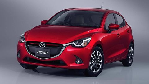 This Is The Production Mazda Demio Which Will Be Sold As 2016 2 In North America It S A Dead Ringer For Hazumi Concept We Saw Back