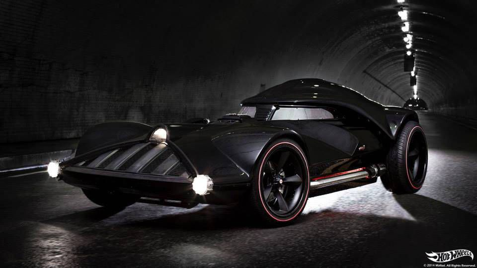 There's a Corvette under the Hot Wheels Darth Vader car