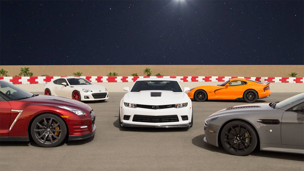 Battle of the Misfits: Z/28 vs Viper TA vs GT-R vs V12 Vantage S