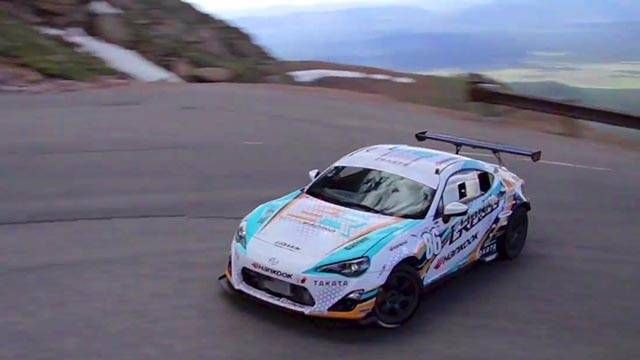 Here's how you drift a Scion FR-S up Pikes Peak