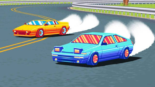 Drift Stage is like Pole Position crossed with Formula Drift